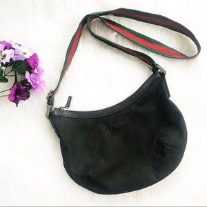 e9aa5891b07 Gucci Bags - Gucci GG Black Canvas Messenger Bag with Web Strap